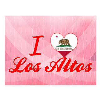 Amo los altos del Los, California Tarjeta Postal