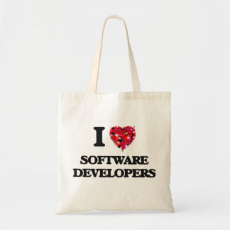 Amo los analistas de programas informáticos bolsa tela barata
