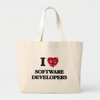 Amo los analistas de programas informáticos bolsa tela grande