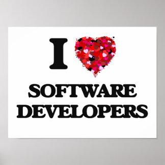 Amo los analistas de programas informáticos póster