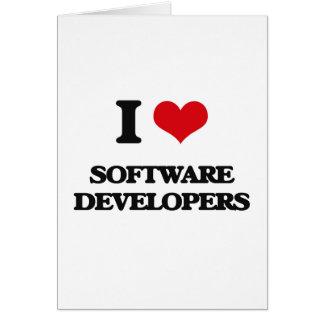 Amo los analistas de programas informáticos felicitaciones