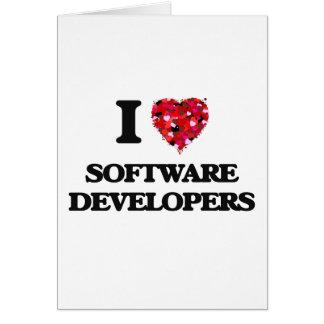 Amo los analistas de programas informáticos tarjeta de felicitación
