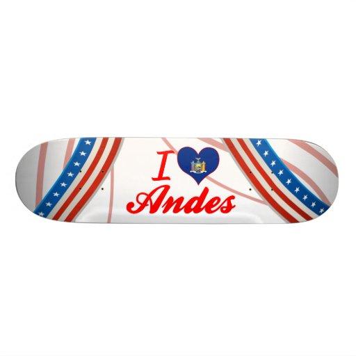 """Amo los Andes, Nueva York Patineta 7 3/4"""""""
