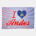 Amo los Andes, Nueva York Toallas