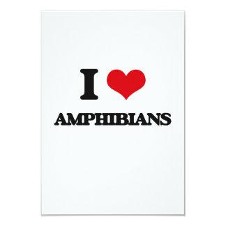 """Amo los anfibios invitación 3.5"""" x 5"""""""