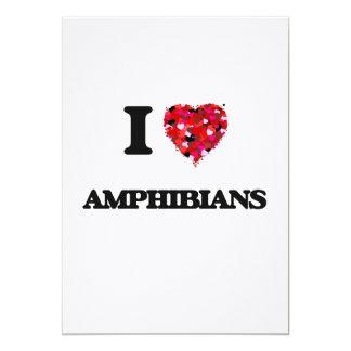 """Amo los anfibios invitación 5"""" x 7"""""""