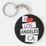 Amo Los Ángeles CA Llavero Personalizado