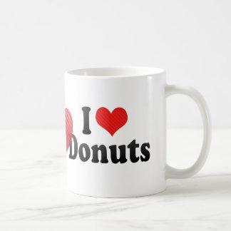 Amo los anillos de espuma taza de café