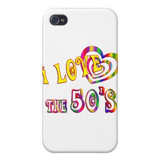 Amo los años 50 iPhone 4/4S fundas