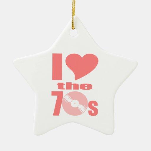 Amo los años 70 ornamentos para reyes magos