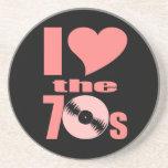 Amo los años 70 posavasos personalizados