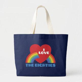 Amo los años 80 bolsas lienzo