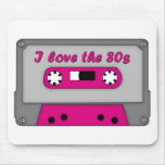 Amo los años 80 (el casete) alfombrillas de ratón