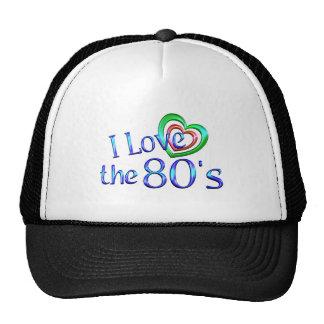 Amo los años 80 gorros bordados