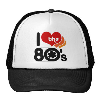 Amo los años 80 gorros