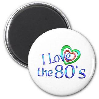 Amo los años 80 imán de frigorífico