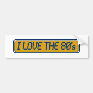 Amo los años 80 pegatina para auto