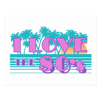 Amo los años 80 tarjeta postal