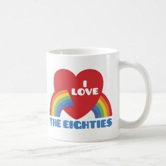 Amo los años 80 taza de café