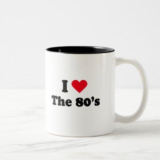 Amo los años 80 tazas