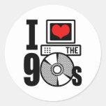 Amo los años 90 pegatina