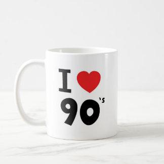 Amo los años noventa taza