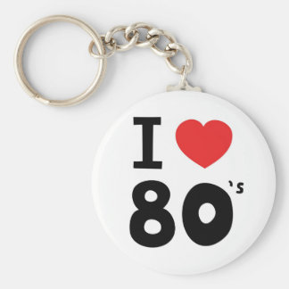 Amo los años ochenta llaveros