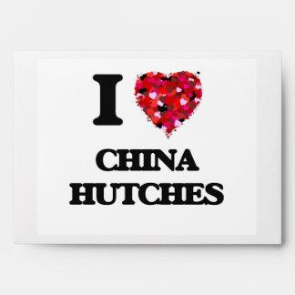 Amo los aparadores de China Sobres