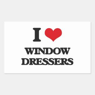 Amo los aparadores de ventana pegatina rectangular