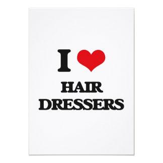 Amo los aparadores del pelo invitación 12,7 x 17,8 cm