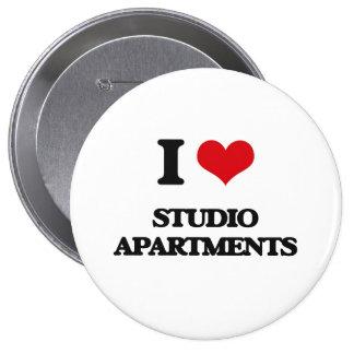Amo los apartamentos-estudios chapa redonda 10 cm