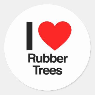 amo los árboles de goma pegatinas redondas