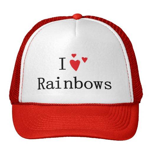 Amo los arco iris gorras de camionero