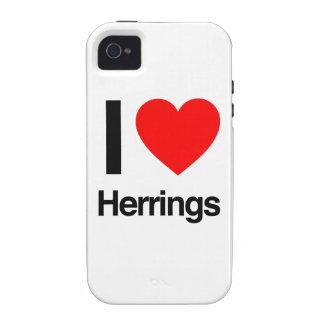 amo los arenques Case-Mate iPhone 4 fundas