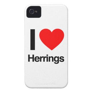 amo los arenques iPhone 4 cárcasa