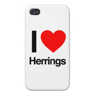 amo los arenques iPhone 4 carcasa