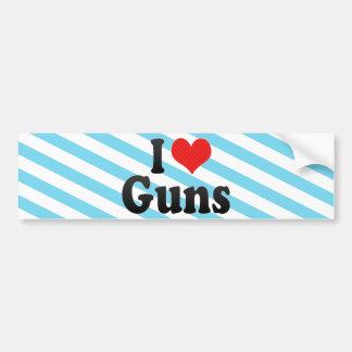 Amo los armas pegatina de parachoque