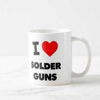 Amo los armas de la soldadura tazas de café