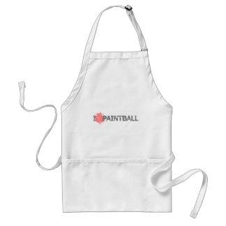 Amo los armas de Paintball Delantal