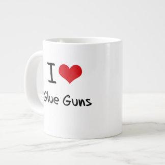 Amo los armas de pegamento taza extra grande