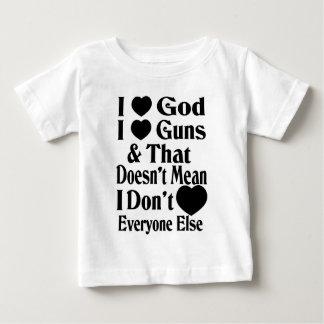 Amo los armas del amor de Dios-Yo Playera De Bebé