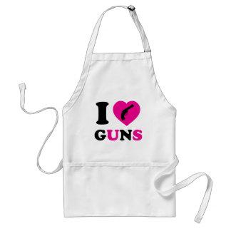 Amo los armas delantal