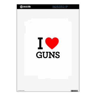 amo los armas calcomanías para el iPad 2