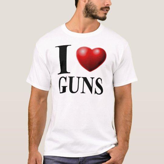 Amo los armas playera