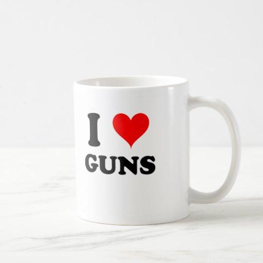 Amo los armas taza de café