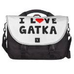 Amo los artes marciales de Gatka Bolsas Para Portatil