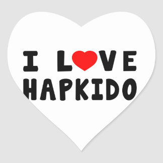 Amo los artes marciales de Hapkido Pegatina En Forma De Corazón