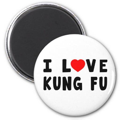 Amo los artes marciales de Kung Fu Imanes Para Frigoríficos