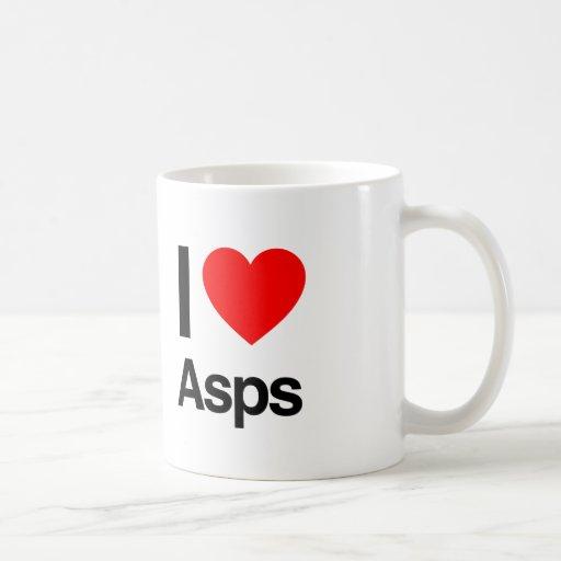 amo los ASP Taza Básica Blanca