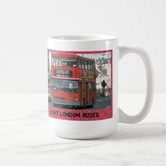 Amo los autobuses de Londres Taza Básica Blanca
